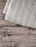 Ciemna drewniana tekstura i tkaniny tekstura Zdjęcia Stock