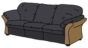Ciemna kanapa ilustracja wektor