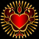 ciemna kierowa czerwień Fotografia Royalty Free