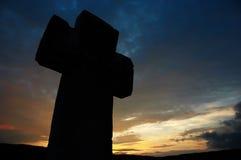 ciemna krzyżowa sylwetka Zdjęcia Stock