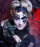 ciemna lady Fotografia Royalty Free