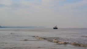 Ciemna piasek plaża Zdjęcie Royalty Free