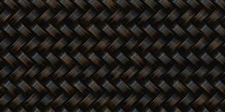 Ciemna rattan tekstura ilustracja wektor