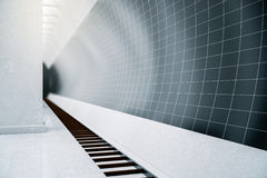 Ciemna staci metru strona Obrazy Stock