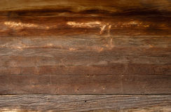 ciemna tekstury drewniany mur Fotografia Royalty Free