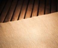 Ciemna tkanina i drewno Zdjęcia Stock