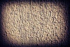 Ciemna winiety rama i prostacki cementowy fasadowy struktury tło zdjęcia royalty free