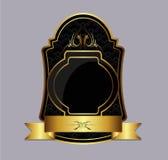 ciemna złocista etykietka Fotografia Royalty Free