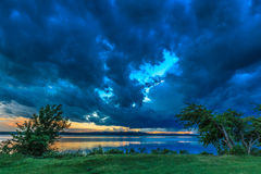 Ciemne burz chmury Obrazy Royalty Free