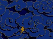 ciemne chmury ilustracji