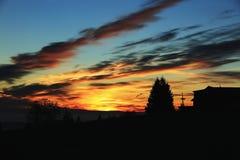 Ciemne chmury, Gigantyczne góry, (czeskie: Krkonose, Pec strąk Snezkou) północna część republika czech Fotografia Stock