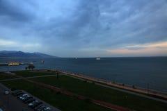 Ciemne chmury Na Izmir zatoce Obrazy Royalty Free