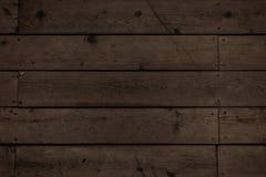 Ciemne drewniane deski Zdjęcia Royalty Free