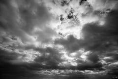 Ciemne Strom chmury Zdjęcia Royalty Free