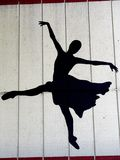 ciemne tancerkę. zdjęcia stock