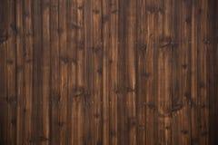 Ciemnego brązu deski tekstury drewniany tło Obrazy Royalty Free
