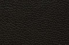 Ciemnego brązu sztuczna skóra z wielką teksturą, tło zdjęcia stock