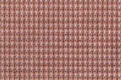 Ciemnego brązu tło od miękkiego wełnistego tkaniny zakończenia up Tekstura tkaniny makro- Zdjęcie Royalty Free