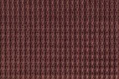 Ciemnego brązu tło od miękkiego wełnistego tkaniny zakończenia up Tekstura tkaniny makro- Fotografia Stock