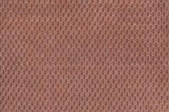 Ciemnego brązu tło od miękkiego wełnistego tkaniny zbliżenia Tekstura tekstylny makro- Obraz Stock