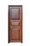 Ciemnego brązu panelu i ramy drewniany drzwi Obraz Stock