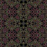Ciemnego kolorowego kalejdoskopu bezszwowa tekstura ilustracji