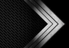 Ciemnego metalu Abstrakcjonistyczny tło z strzała Fotografia Royalty Free