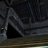 ciemnego miejsca straszny scifi położenie Zdjęcie Royalty Free