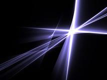 Ciemnego tła jaskrawy światło Zdjęcia Royalty Free