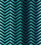 Ciemnego turkusowego gradientowego szewronu bezszwowy wzór Obrazy Stock