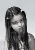 ciemnej dziewczyny z włosami potomstwa zdjęcie stock