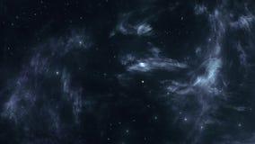Ciemnej przestrzeni mgławica i Jaskrawe gwiazdy royalty ilustracja