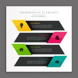 Ciemni biznesowi infographic sztandary Zdjęcie Stock