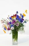 ciemni bukietów błękitny cornflowers Obrazy Royalty Free
