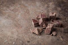 Ciemni czekolada kawałki obrazy royalty free