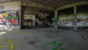 ciemni pokoje w fabrycznej panoramie obrazy stock