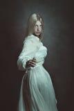 ciemni portreta kobiety potomstwa Zdjęcie Royalty Free
