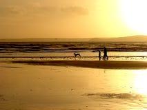 ciemniusieńki na plaży obraz stock