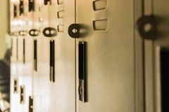 Ciemniusieńka Szkolna korytarz rolki szafka Zdjęcia Stock