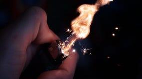 ciemności płomienia gazu obrazek Zdjęcie Royalty Free
