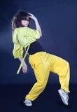 ciemności dancingowa dziewczyna Hiphop nastoletni Obrazy Stock