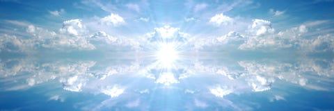 ciemno niebieski banner słońce Fotografia Royalty Free