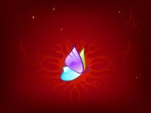 ciemnoczerwony motyla Zdjęcia Royalty Free