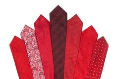 ciemnopąsowej czerwieni krawaty Fotografia Royalty Free