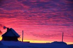 Ciemnopąsowy niebo Fotografia Stock