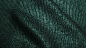 Ciemnozielona wysokiej jakości sztruksowa tekstura, rusza się fala, Bezszwowa pętla zbiory