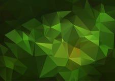 Ciemnozielony abstrakcjonistyczny poligonalny tło Zdjęcia Royalty Free