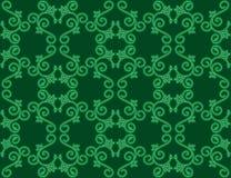Ciemnozielony bezszwowy kwiecisty wzór Zdjęcia Royalty Free