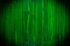 Ciemnozielony drewno Naturalny tekstury tło Winiety i cienia skutek Zdjęcie Stock