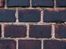 Ciemny ściana z cegieł Fotografia Stock